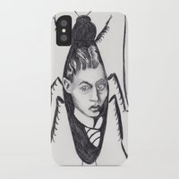 kafka iPhone & iPod Cases featuring Franz Kafka--Author Portrait Metamorphosis by Wicked Ink