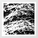 Black and White Paint Splatter by textart