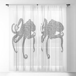 Octopus Day Sheer Curtain