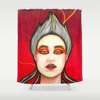 phoenix Shower Curtains featuring Phoenix by Melanie Arias