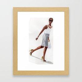 Strutting Shala Framed Art Print
