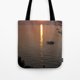 Lonely Michigan Sunset Tote Bag