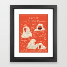 Actual Arctic Snow Monkeys Framed Art Print