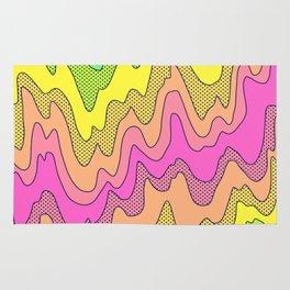 Ooo Ahh Melty Neon Rainbow Rug