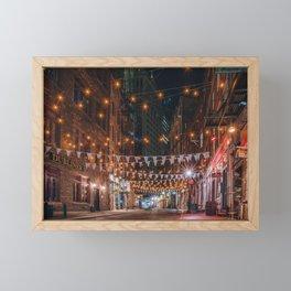 Stone Street in NYC Framed Mini Art Print