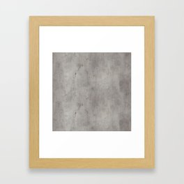 Dirty Bare Concrete Framed Art Print