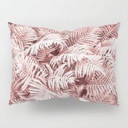 Fern Bush Blush Pink | Bedroom Art Pillow Sham