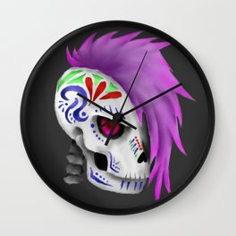 Tattooed Skull Wall Clock