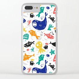 Sea characters Clear iPhone Case