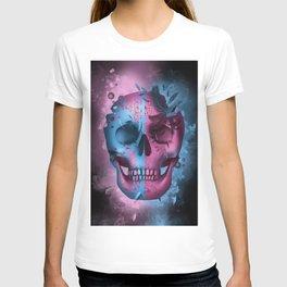 skull black art decor T-shirt