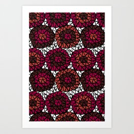 Triangles Red Art Print