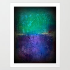 Untitled purple and green Art Print