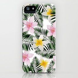 Leave Me Aloha in White iPhone Case