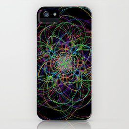 looping lines iPhone Case
