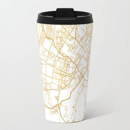 COPENHAGEN DENMARK CITY STREET MAP ART Travel Mug