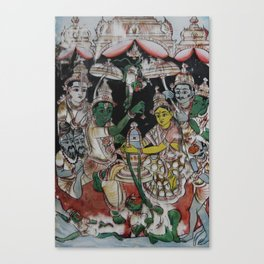 Puja-Shiva-Lingam_Peinture-sur-verre Canvas Print