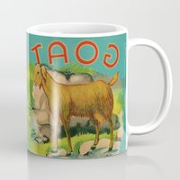 goat Mugs featuring Goat! by Connie Goldman