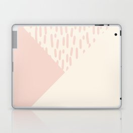 Modern geometrical ivory pink color block paint brushstrokes Laptop & iPad Skin