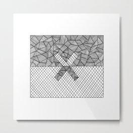 Halves Metal Print