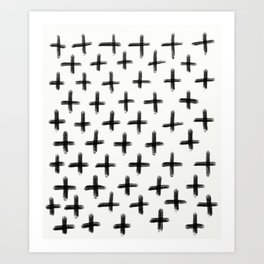 Painted Cross Pattern Art Print
