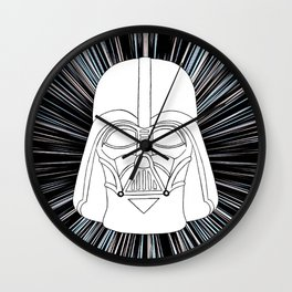 Vader in Hyperspace Wall Clock