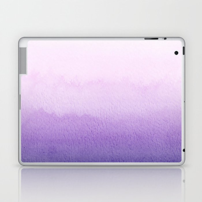 Purple Watercolor Design Laptop & iPad Skin