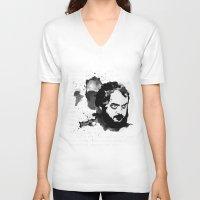 stanley kubrick V-neck T-shirts featuring Stanley Kubrick by Kongoriver