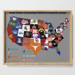 map football Serving Tray