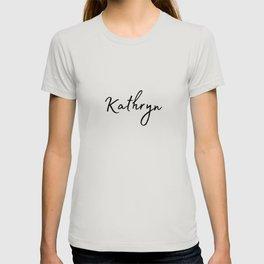Kathryn Calligraphy T-shirt