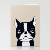 frenchie Stationery Cards featuring Frenchie by Darish