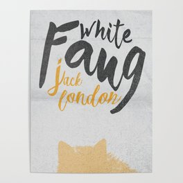 White Fang, Jack London book cover, poster, old classic, penguin book Poster