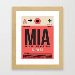 MIA Miami Luggage Tag 1 Framed Art Print