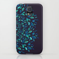 Blue Leaves Mandala Slim Case Galaxy S5