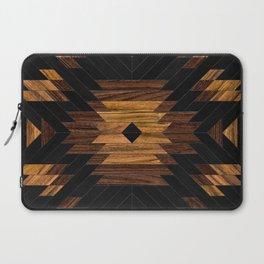 Urban Tribal Pattern 7 - Aztec - Wood Laptop Sleeve