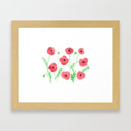 Poppies on a Field Framed Art Print