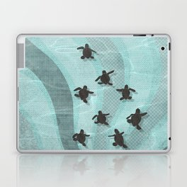 Loggerhead sea turtle hatchlings Laptop & iPad Skin