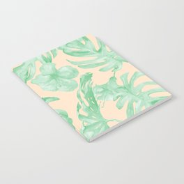 Tropical Monstera and Palm Party II Notebook