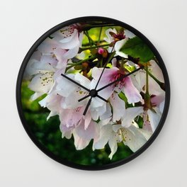 Cheery Cherry Blossoms Wall Clock