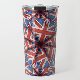 Heart Shaped England Flag Pattern Design Travel Mug