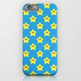 Stars (Bright Blue) iPhone Case