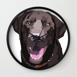 Libby the Chocolate Lab Wall Clock