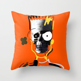 No.1 - Beauty isn't only skin deep / b-ART / ORANGE Throw Pillow