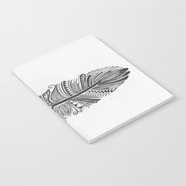 Black and White Feather Zen Notebook