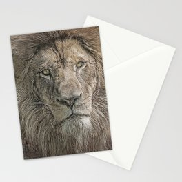 Lion Portrait Stationery Cards