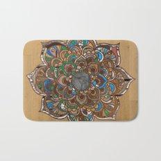 Mandala VII - Wood Bath Mat