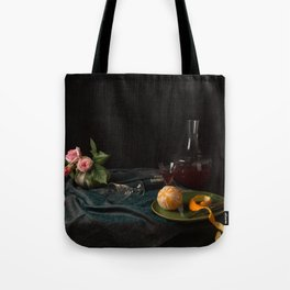 Orange and roses still life Tote Bag