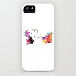 Britain to Mauritania  Quote Art Design Inspiratio iPhone Case