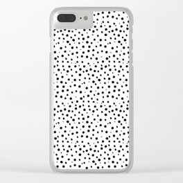 Tiny Doodle Dots Clear iPhone Case
