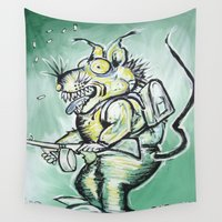 rat Wall Tapestries featuring Rat Pack by Stephanie Darling