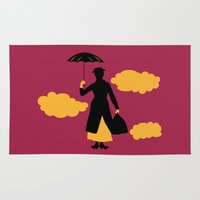 mary poppins Area & Throw Rugs featuring Mary Poppins by FilmsQuiz